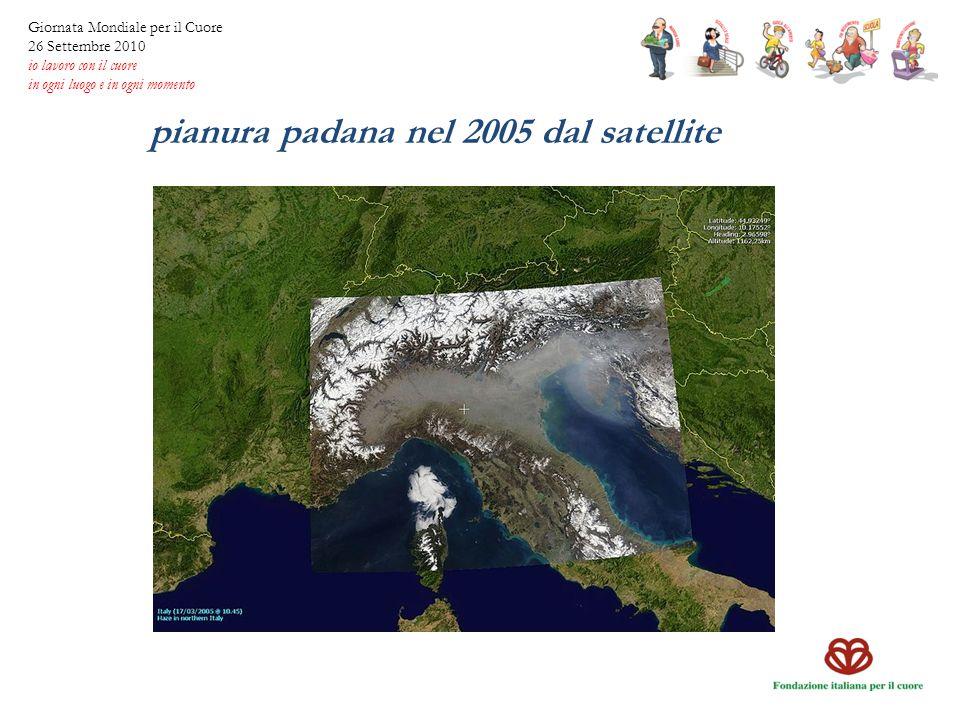 pianura padana nel 2005 dal satellite
