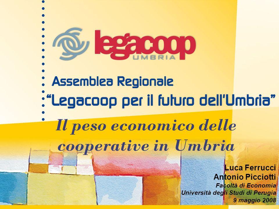 Il peso economico delle cooperative in Umbria