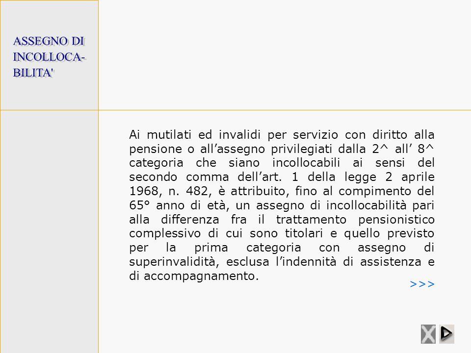 ASSEGNO DI INCOLLOCA- BILITA