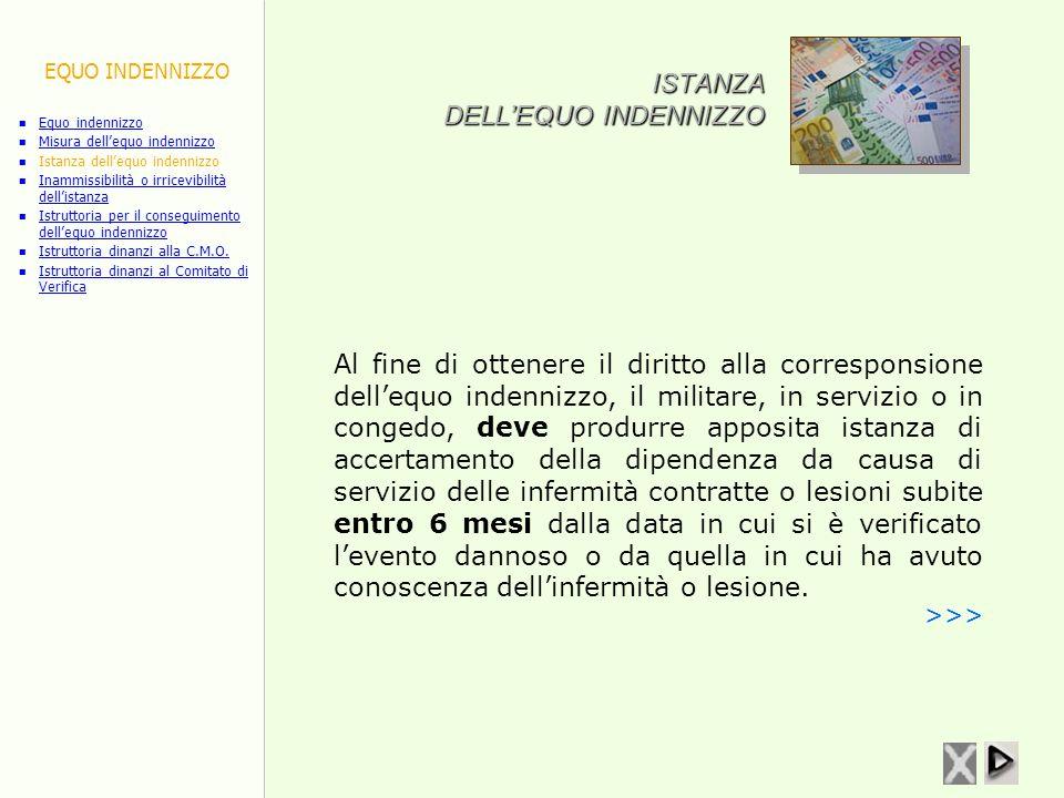 ISTANZA DELL'EQUO INDENNIZZO