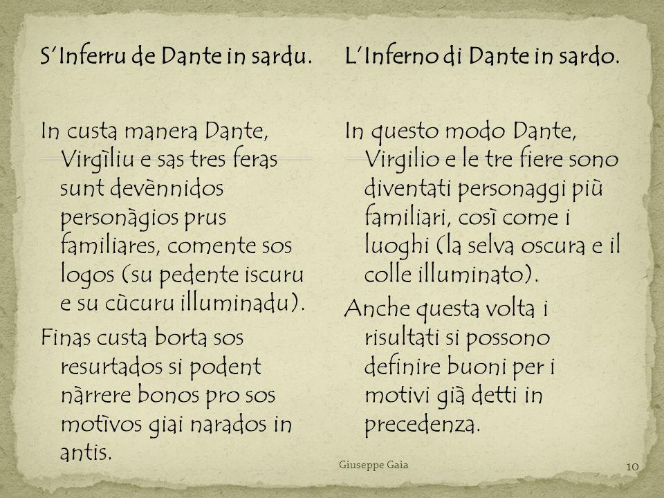 S'Inferru de Dante in sardu. L'Inferno di Dante in sardo.