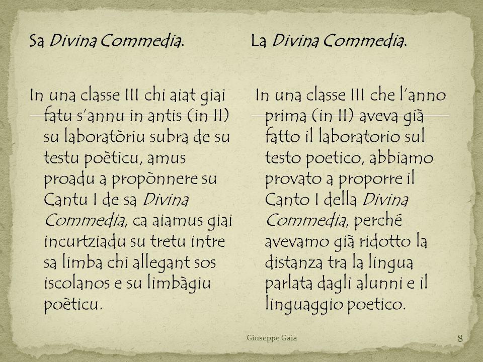 Sa Divina Commedia. La Divina Commedia.