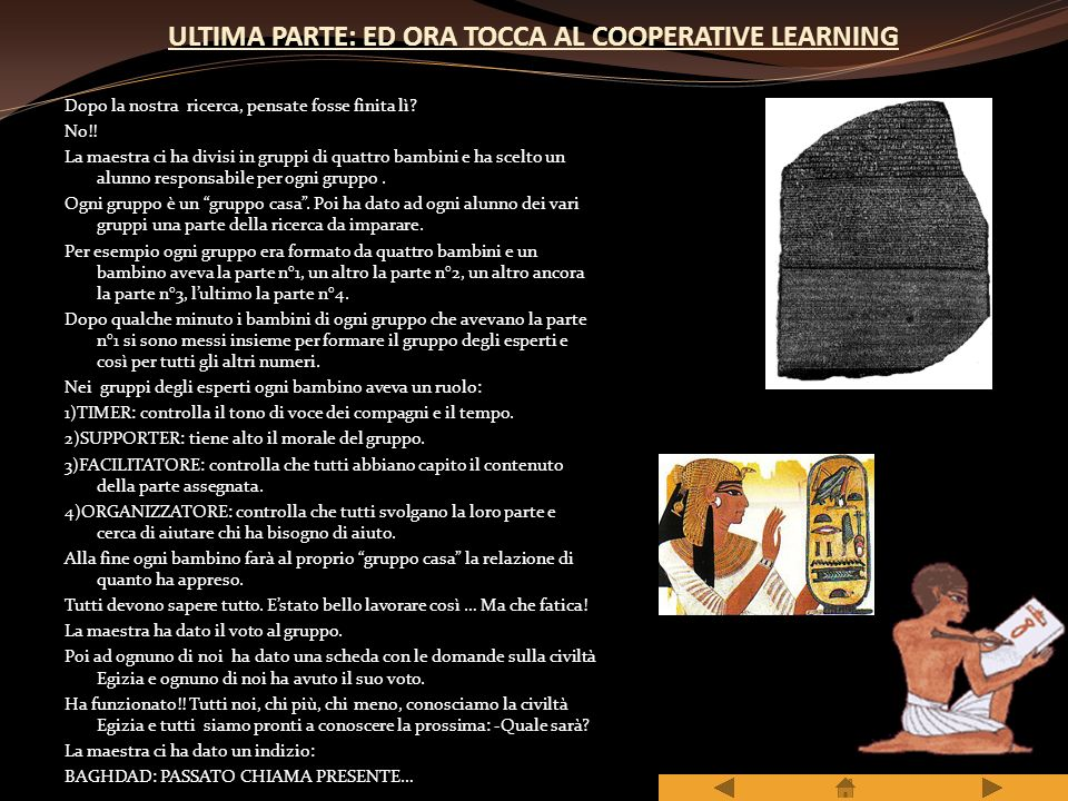 ULTIMA PARTE: ED ORA TOCCA AL COOPERATIVE LEARNING