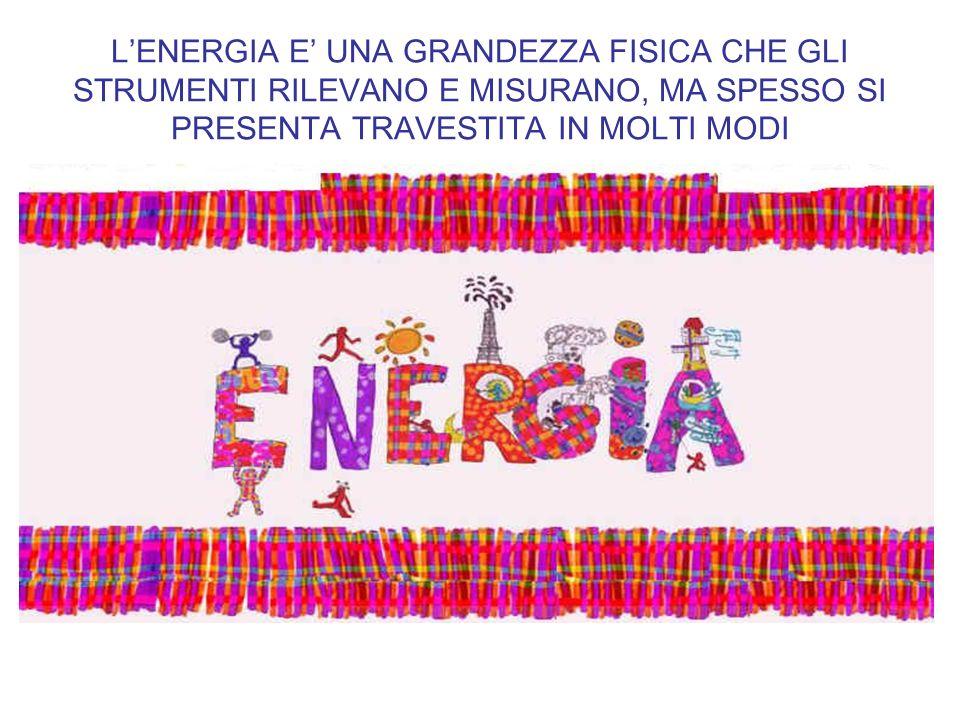 L'ENERGIA E' UNA GRANDEZZA FISICA CHE GLI STRUMENTI RILEVANO E MISURANO, MA SPESSO SI PRESENTA TRAVESTITA IN MOLTI MODI
