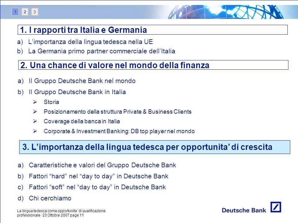 1. I rapporti tra Italia e Germania