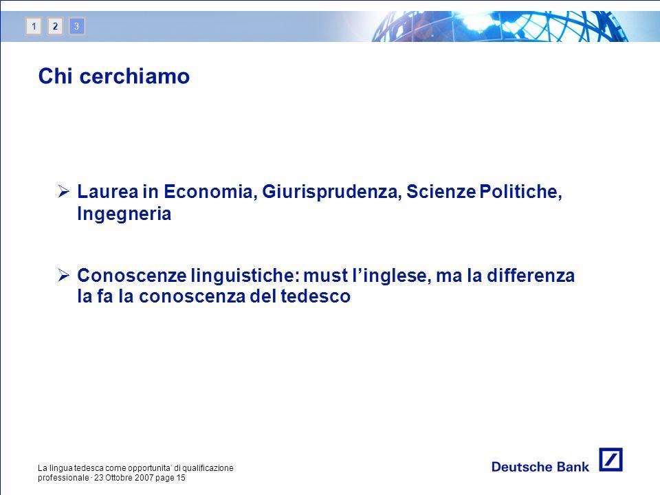 1 2. 3. Chi cerchiamo. Laurea in Economia, Giurisprudenza, Scienze Politiche, Ingegneria.