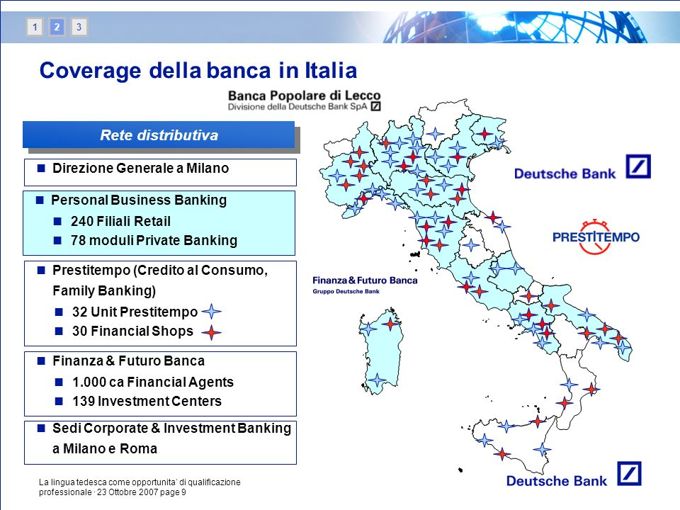 Coverage della banca in Italia