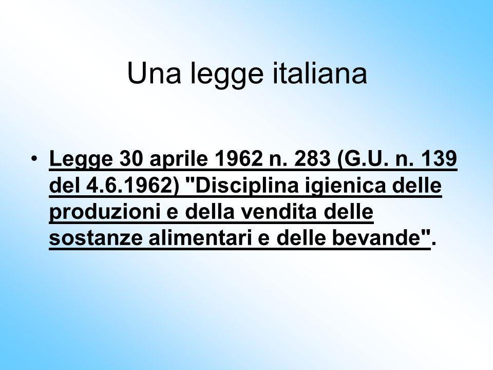 Una legge italiana