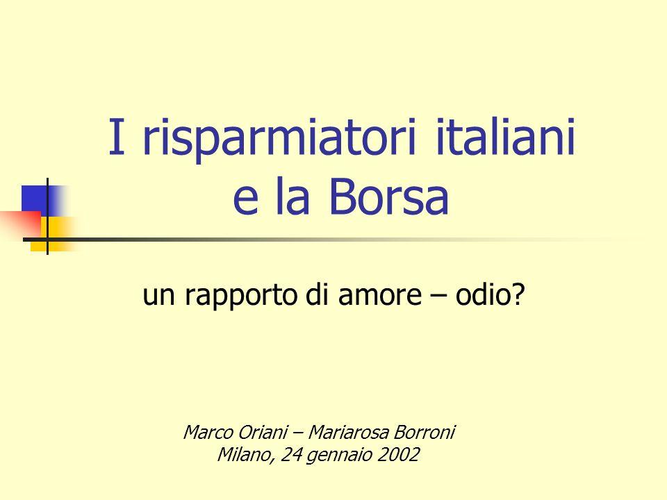 I risparmiatori italiani e la Borsa