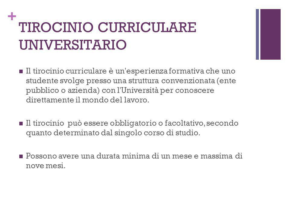 TIROCINIO CURRICULARE UNIVERSITARIO