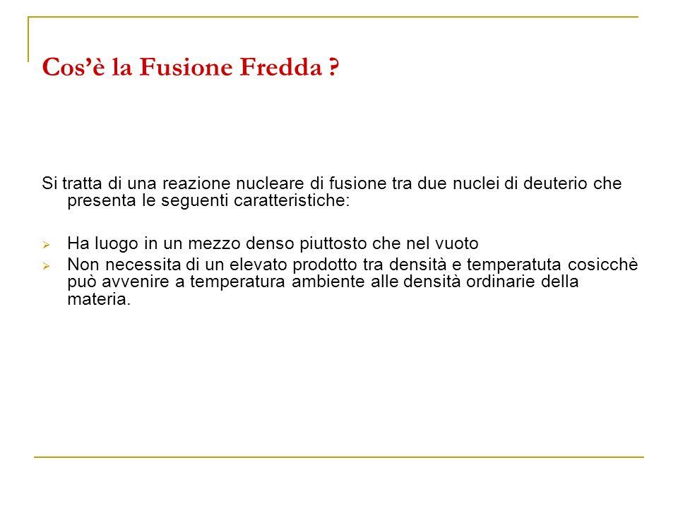 Cos'è la Fusione Fredda