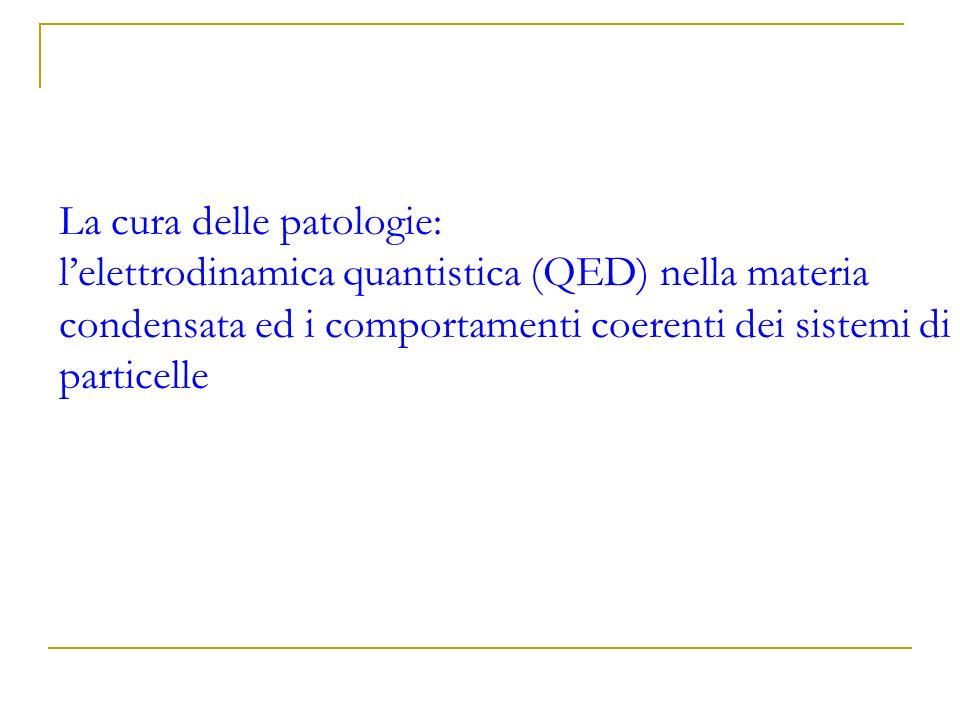 La cura delle patologie: l'elettrodinamica quantistica (QED) nella materia condensata ed i comportamenti coerenti dei sistemi di particelle