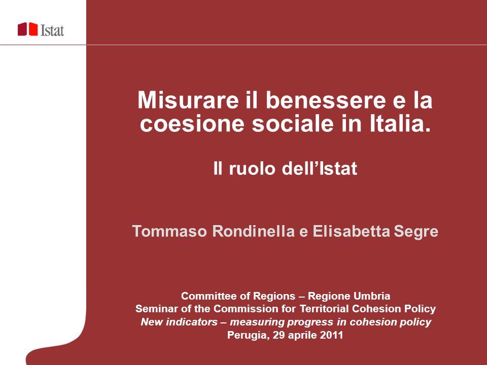 Misurare il benessere e la coesione sociale in Italia.