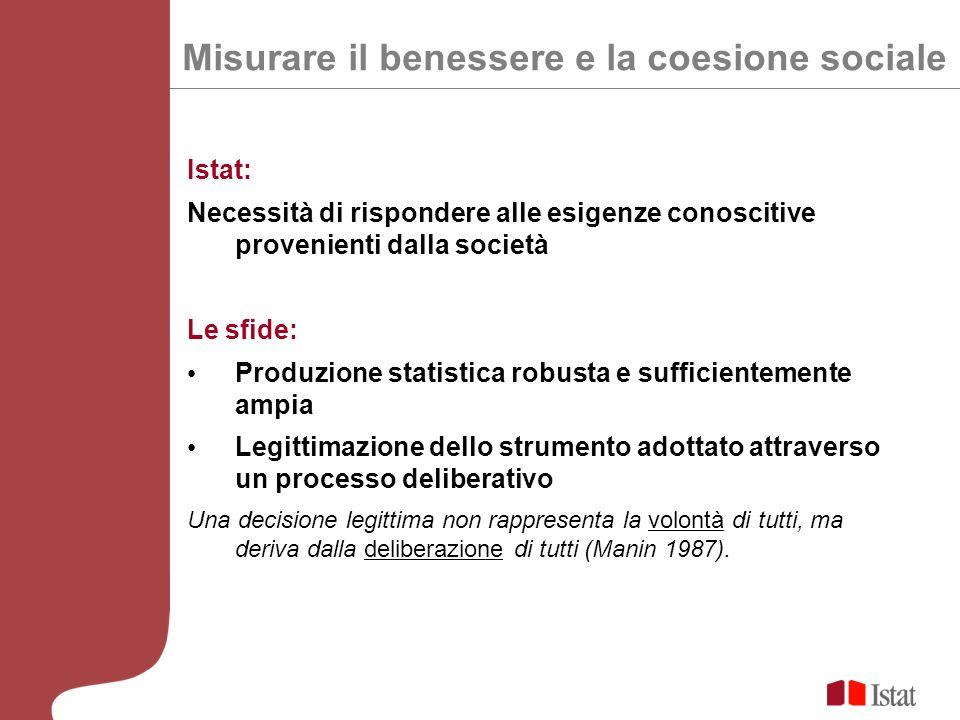 Misurare il benessere e la coesione sociale