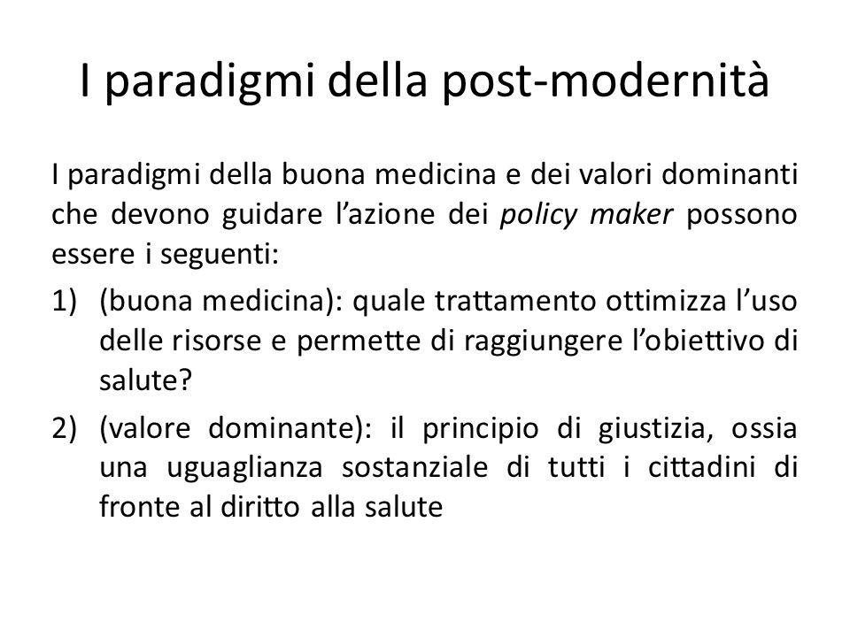 I paradigmi della post-modernità