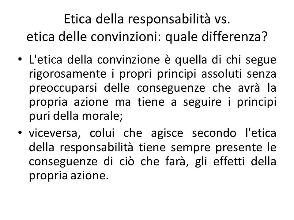 Etica della responsabilità vs