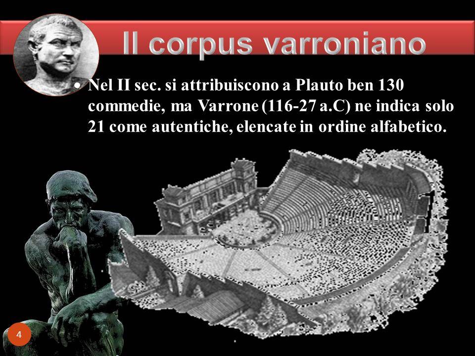 Il corpus varroniano