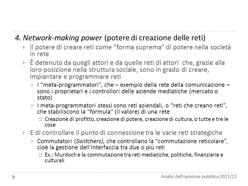4. Network-making power (potere di creazione delle reti)