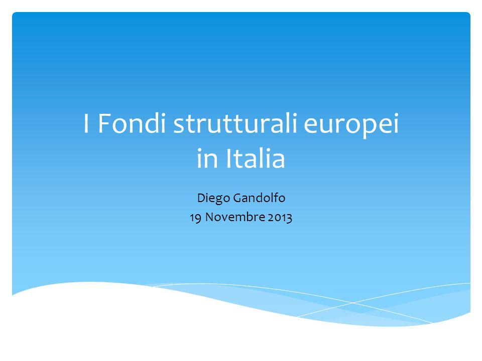 I Fondi strutturali europei in Italia