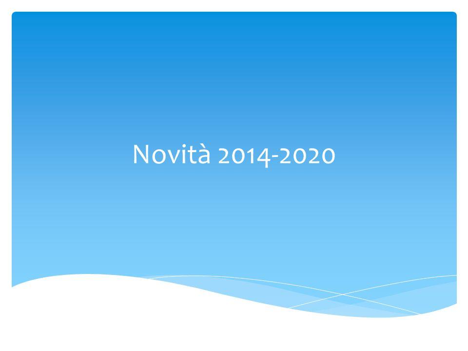 Novità 2014-2020