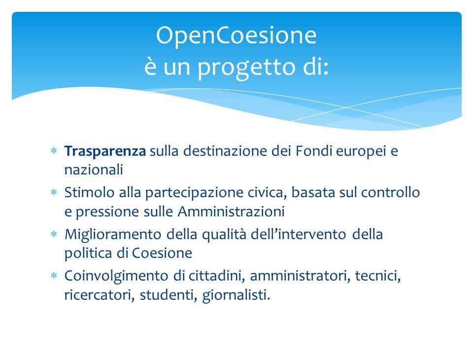 OpenCoesione è un progetto di:
