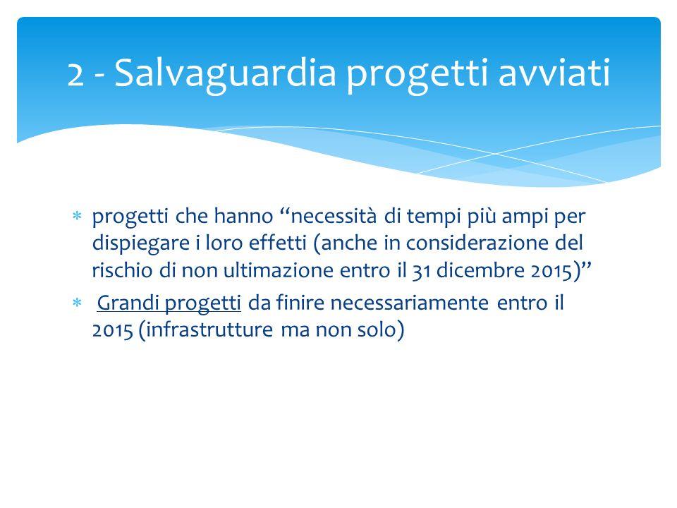 2 - Salvaguardia progetti avviati