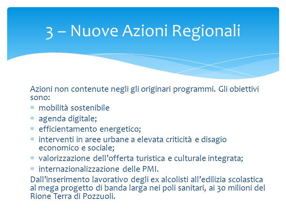 3 – Nuove Azioni Regionali