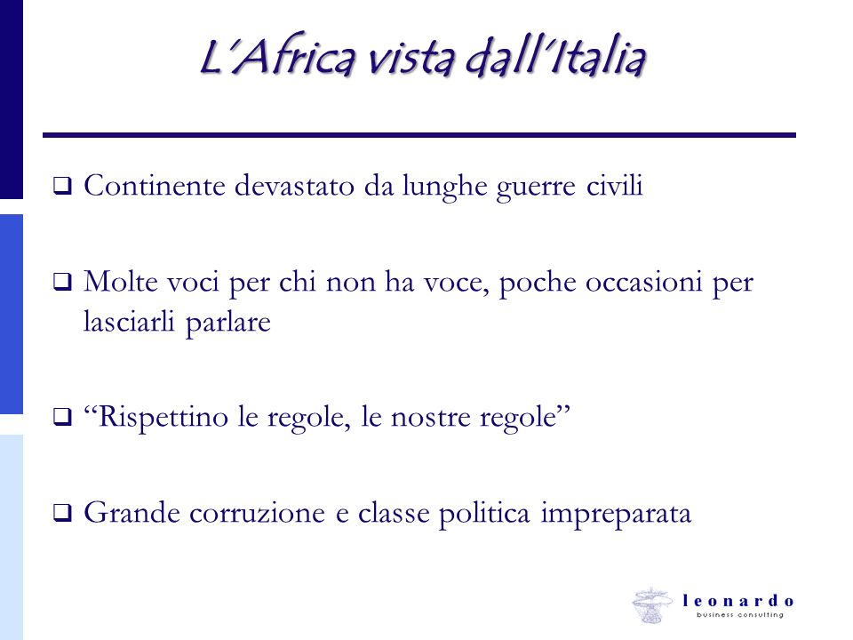 L'Africa vista dall'Italia