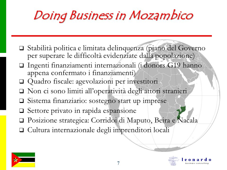 Doing Business in Mozambico