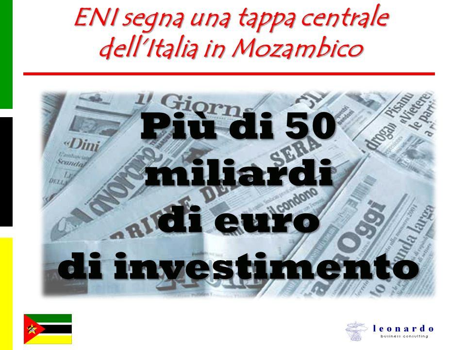 ENI segna una tappa centrale dell'Italia in Mozambico