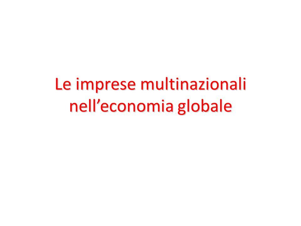 Le imprese multinazionali nell'economia globale