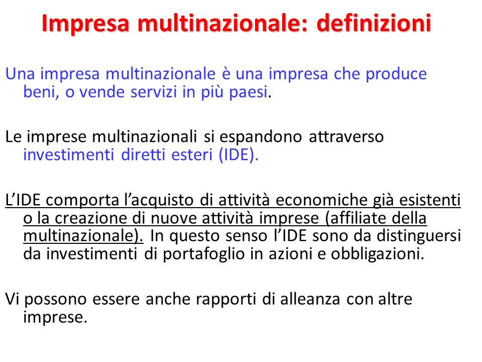 Impresa multinazionale: definizioni