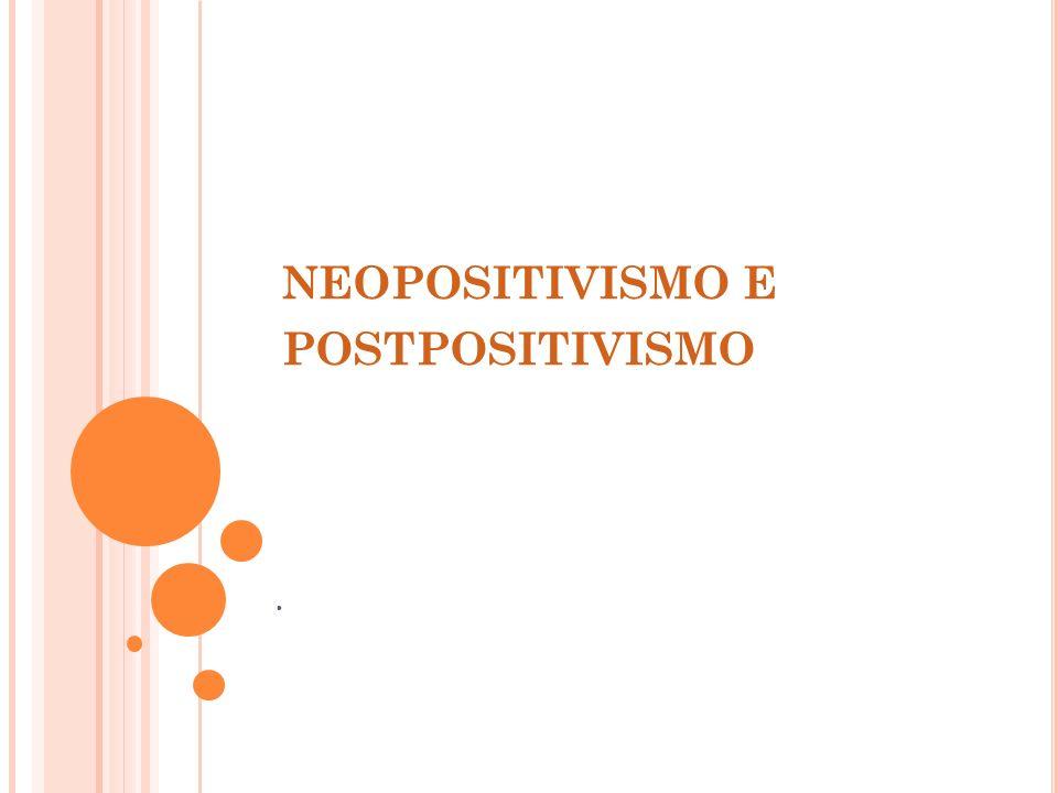 neopositivismo e postpositivismo