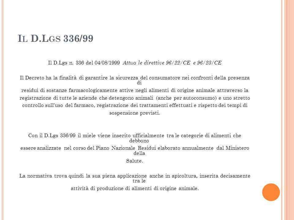 Il D.Lgs 336/99