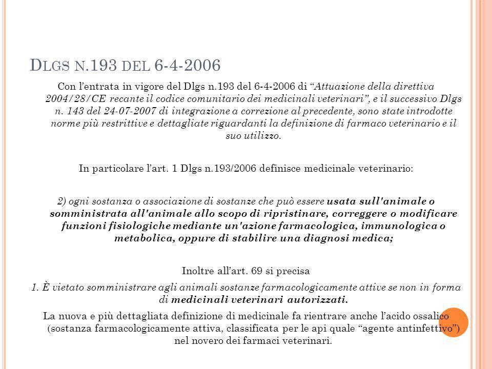 Dlgs n.193 del 6-4-2006