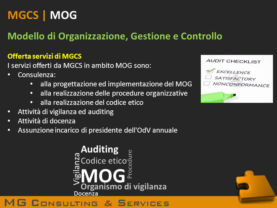 MOG MGCS | MOG Modello di Organizzazione, Gestione e Controllo