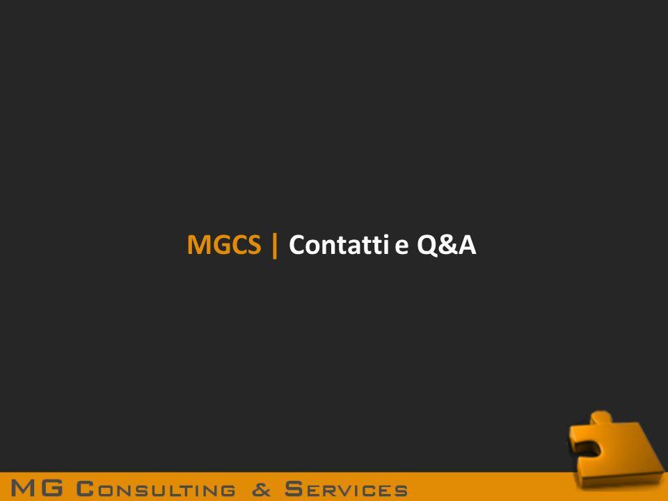 MGCS | Contatti e Q&A