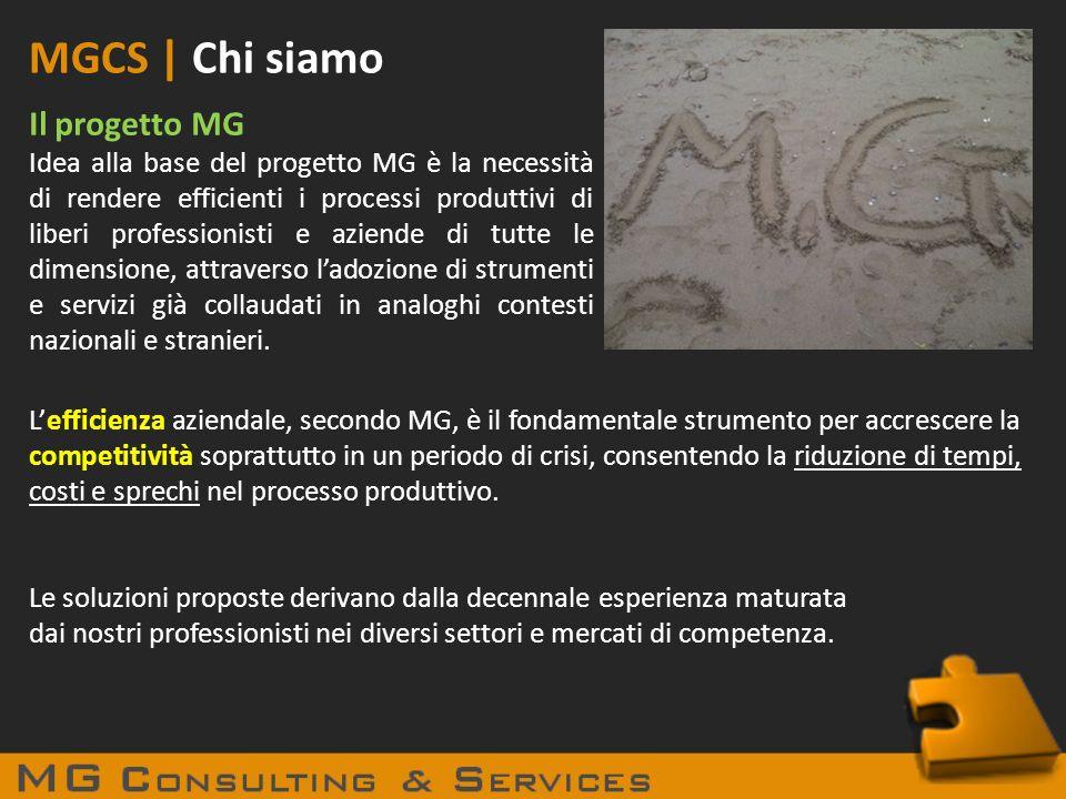 MGCS | Chi siamo Il progetto MG