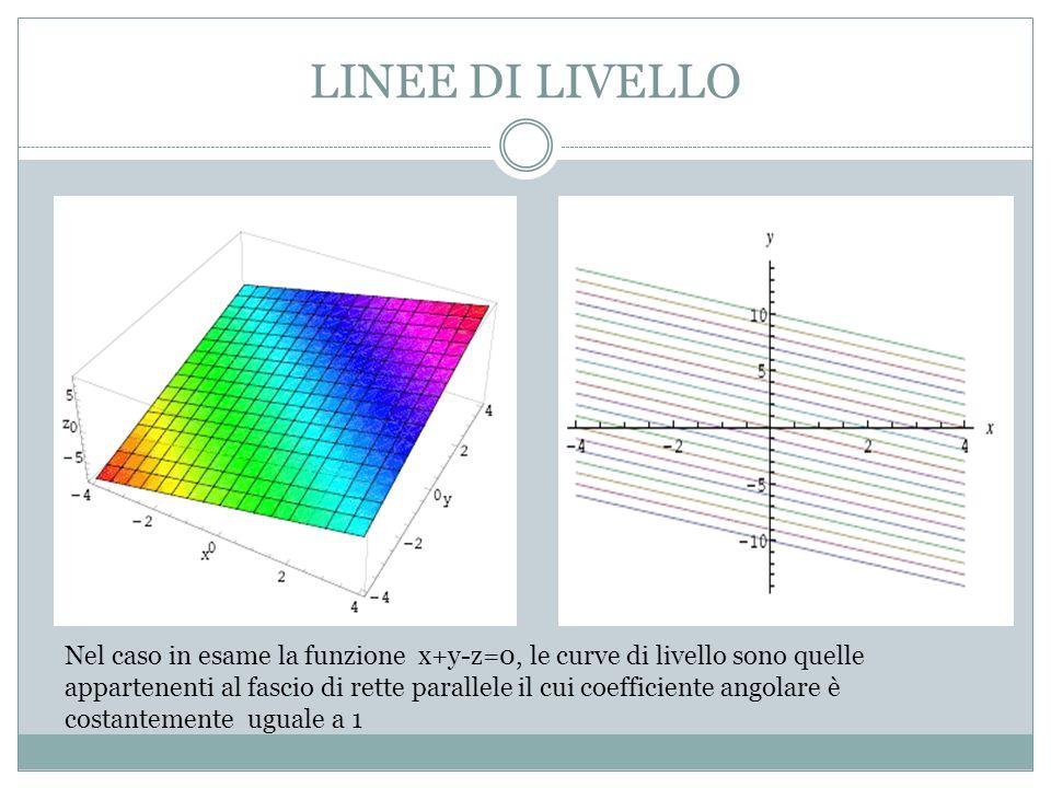 LINEE DI LIVELLO