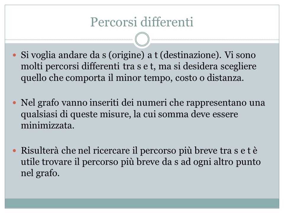 Percorsi differenti