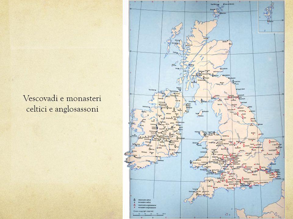 Vescovadi e monasteri celtici e anglosassoni