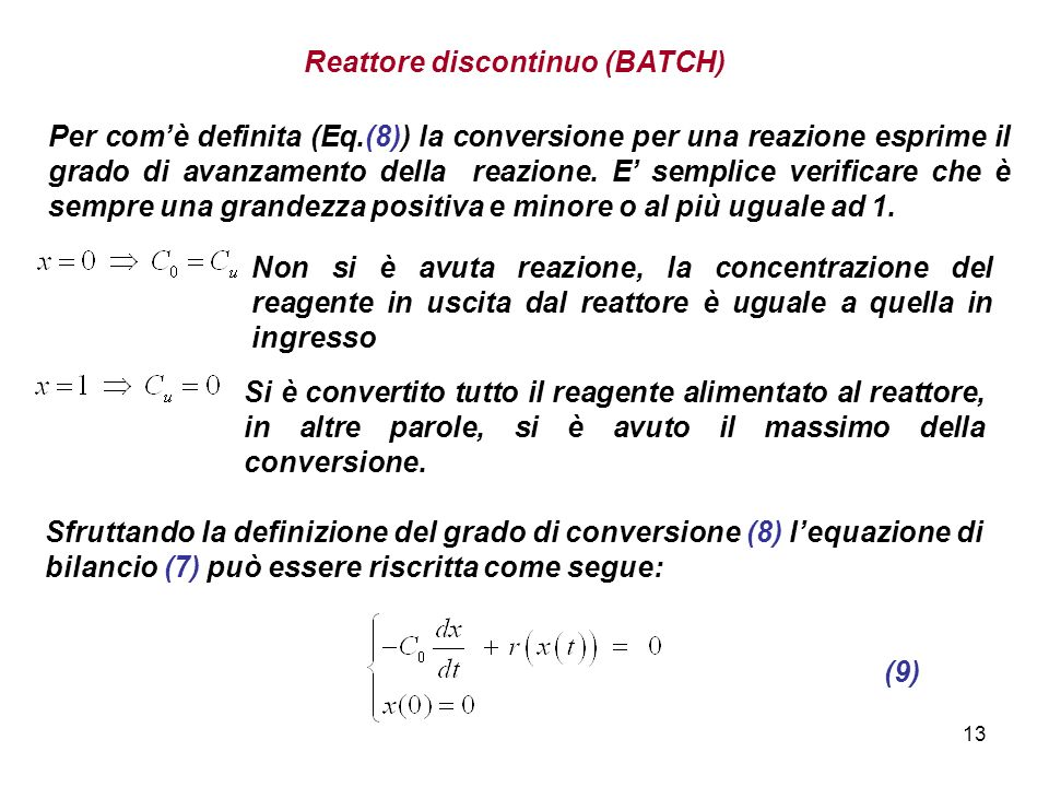 Reattore discontinuo (BATCH)