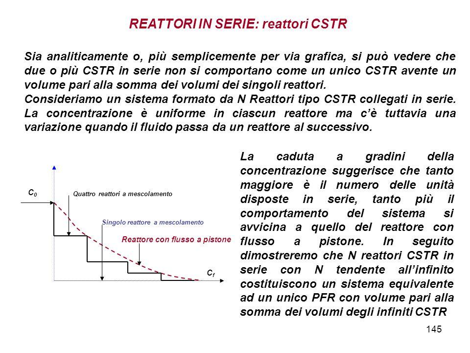 REATTORI IN SERIE: reattori CSTR