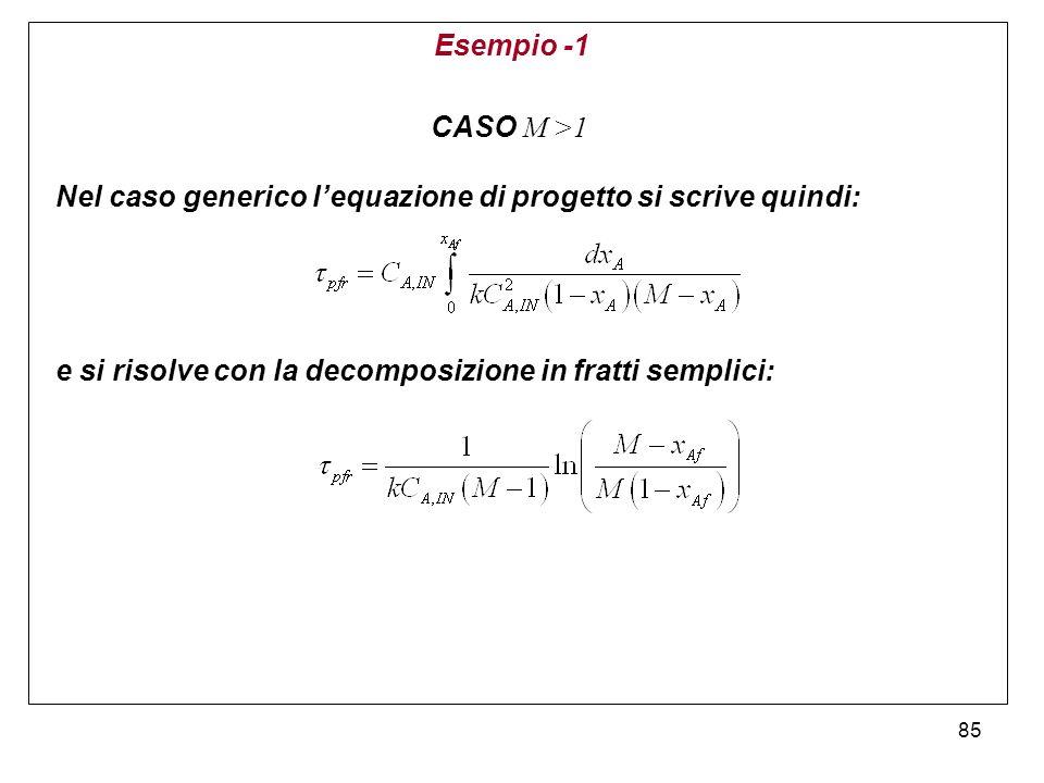 Esempio -1 CASO M >1.