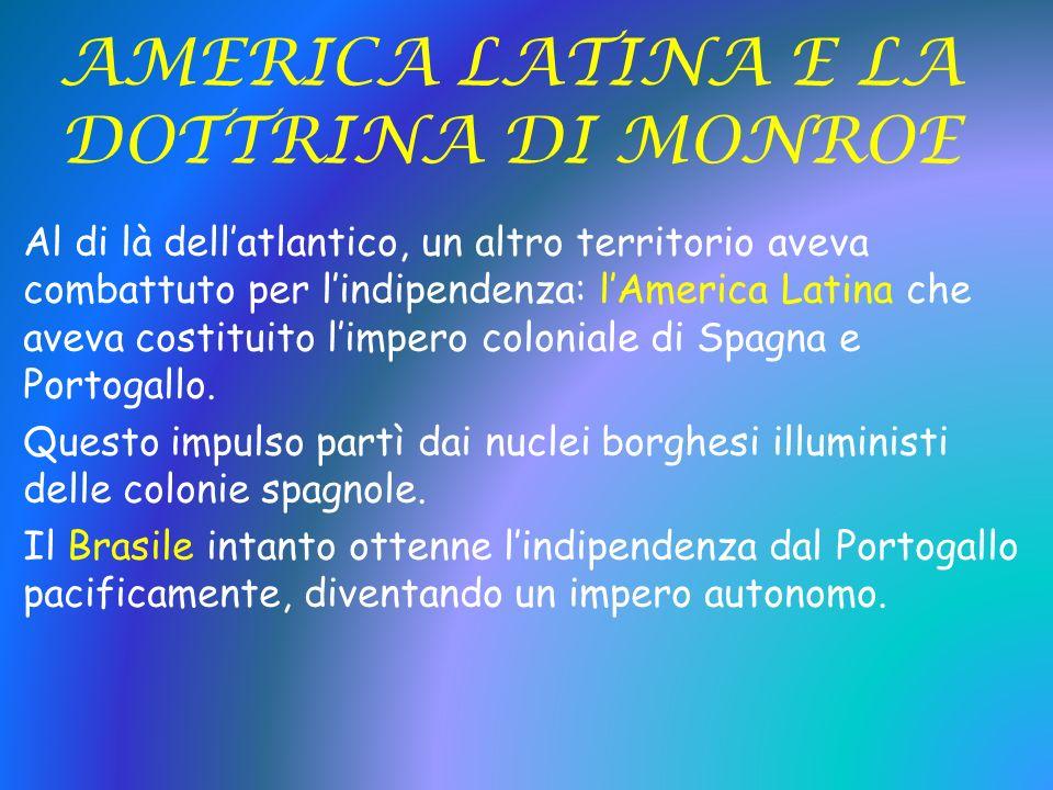 AMERICA LATINA E LA DOTTRINA DI MONROE