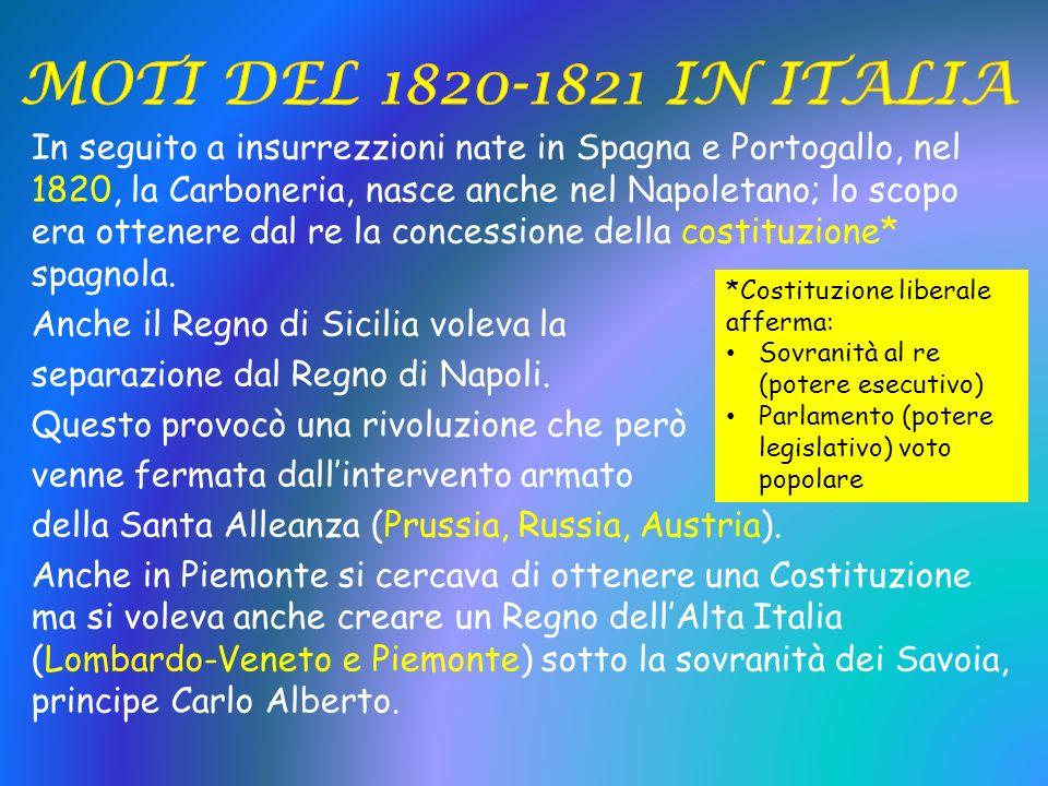 MOTI DEL 1820-1821 IN ITALIA