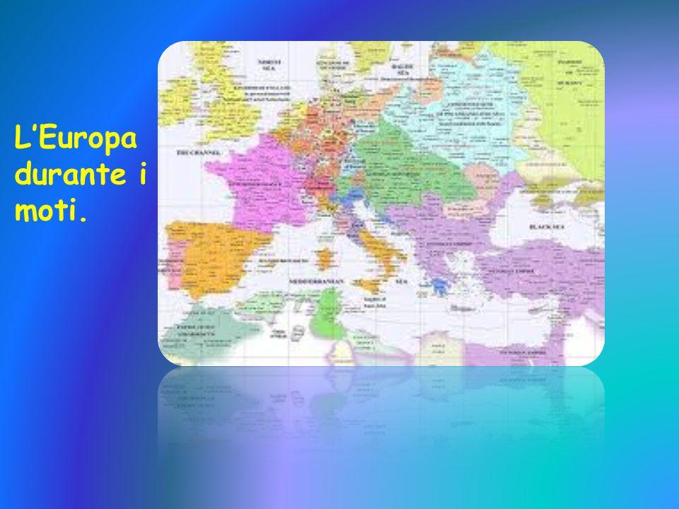 L'Europa durante i moti.