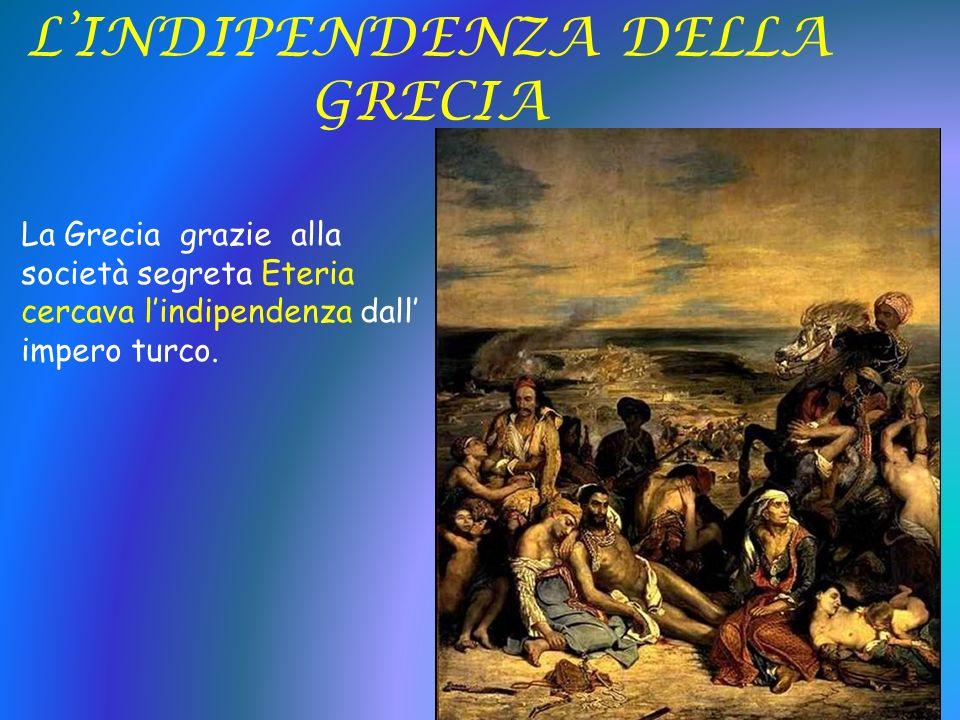 L'INDIPENDENZA DELLA GRECIA