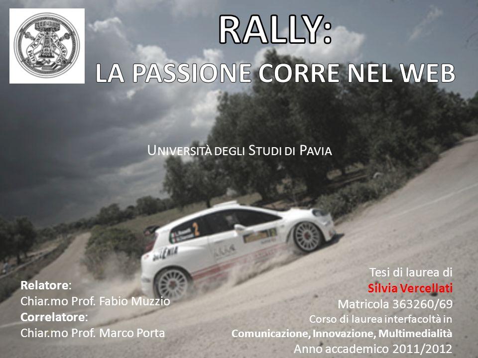 RALLY: LA PASSIONE CORRE NEL WEB
