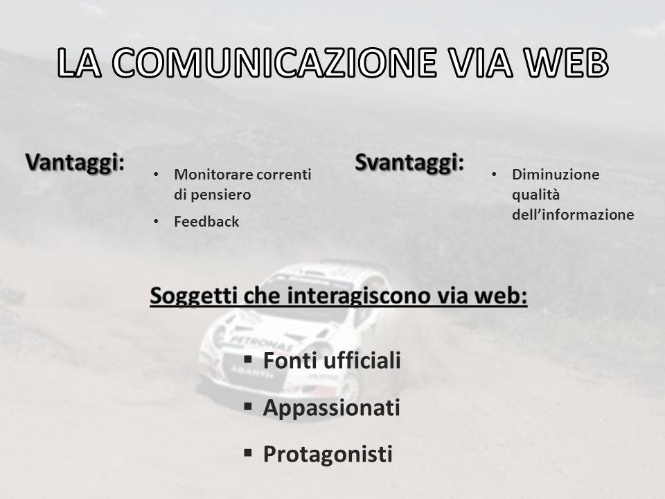 LA COMUNICAZIONE VIA WEB